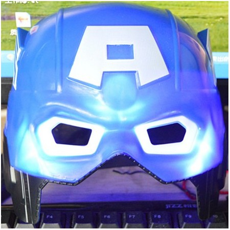 Captain America -mask med LED