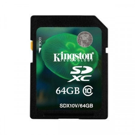 Tarjeta de Memoria SD 64GB Kingston Class 10