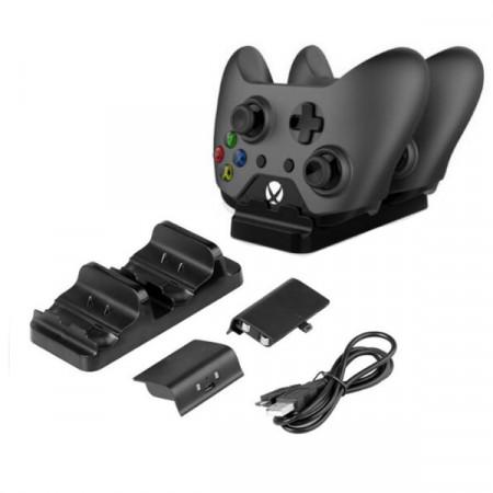 Xbox One ohjainten latausasema + 2 akkua