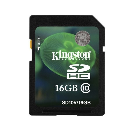 Kingston Tarjeta 16G de Memoria SD Class 10