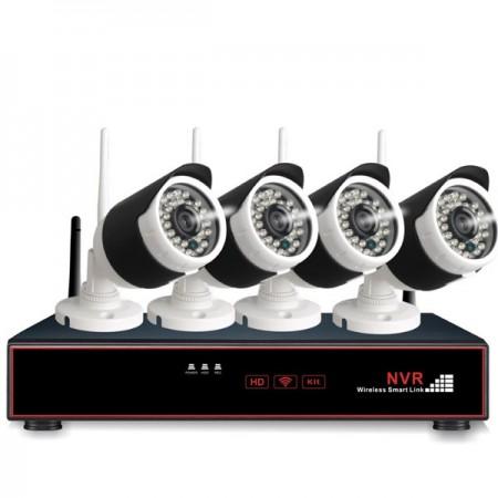 4 x Langaton kamera ja verkkovideotallennin