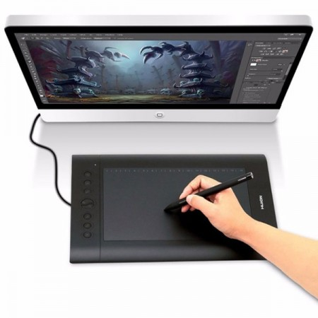 HUION H610 Pro drawing tablet 10x6.25""