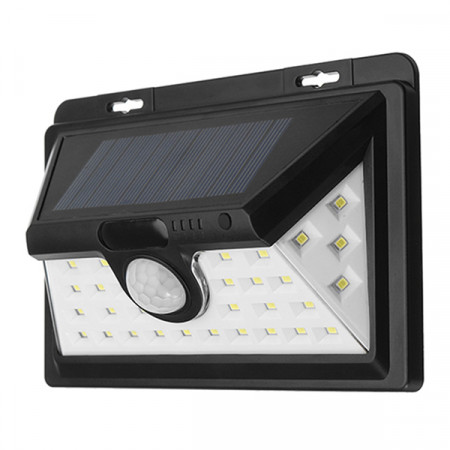 Solaris Black Solar Outdoor Light 34LED