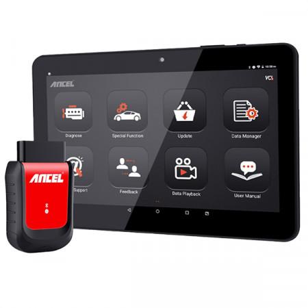 Ancel X6 OBD2 Bluetooth vikakoodinlukija ja tabletti