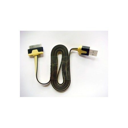 iPhone4/4S/3GS USB kabel (gul)