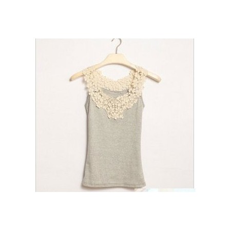 Lace top – gray | Pitsitoppi