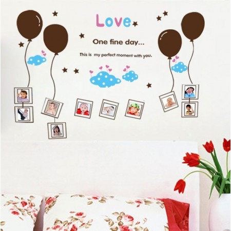 Wall stickers | Photo Frame & Balloon -seinätarra