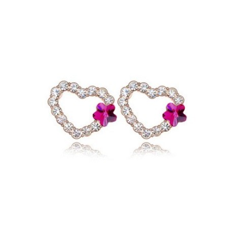 Heart-shaped Earring  | Kristallikorvakorut