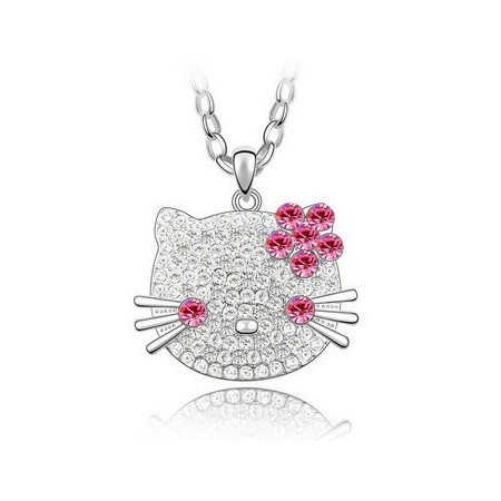 Lovely Cat Crystal Necklace  | Kristallikaulakoru