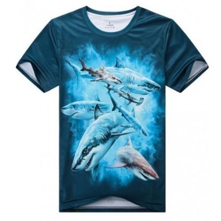 3D Animal T-shirt - Hai t-paita - XXXL