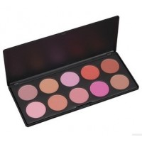 Blush powder palette  10 color for cheek shaping