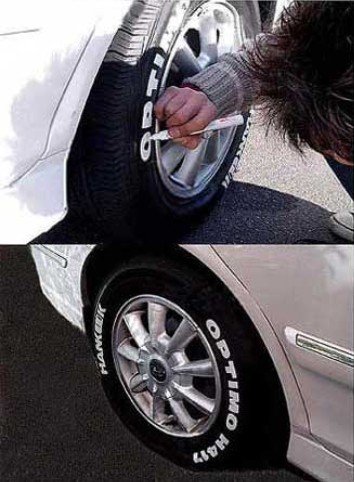 Tuschpenna för däck