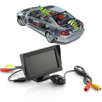 4.3 Inch Wireless Rearview Parking Monitor  with Weatherproof Night vision Camera
