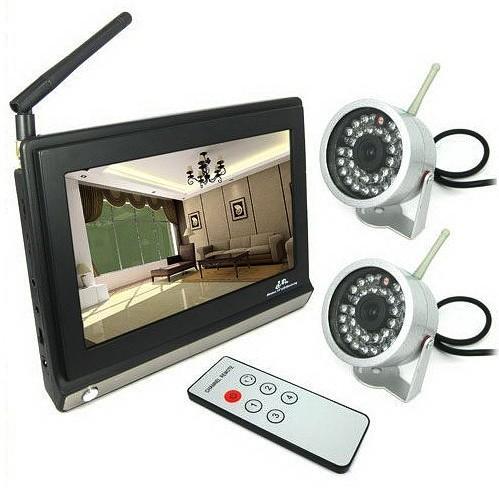 """Trådlös LCD kameraövervakningsset 7"""""""