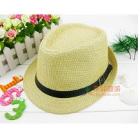 Stylish straw hat  with belt