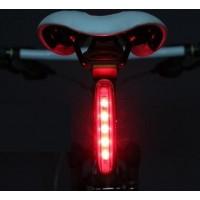Lykta som placeras under sadeln och lyser upp med 5st kraftiga LED.