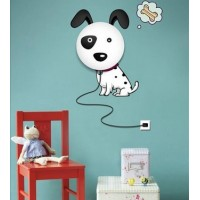 DIY wallpaper X LED light   3D Cartoon dog