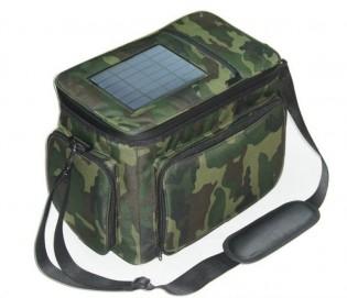 Kalastuslaukku aurinkopaneelilaturilla - Khaki