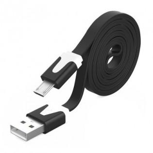 Litteä Mikro-USB latauskaapeli - Violetti