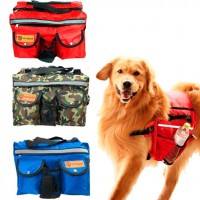 Dog backpack, red