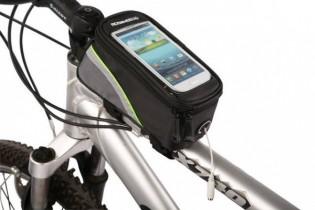 Polkupyörän laukku älypuhelintaskulla - Sininen