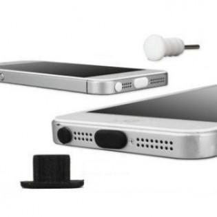 iPhone 5/5S pölysuojasetti - Musta