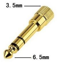 3.5mm - 6.5mm adapteri