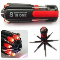 8 in 1 Screwdriver Set with LED Light