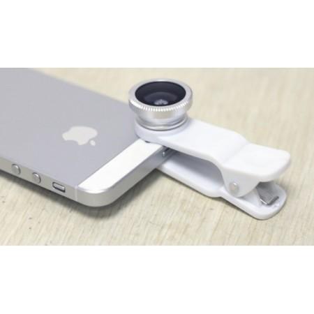Kameralinssi puhelimeen 3-in-1 - Musta