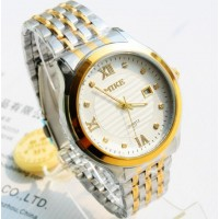 Mike 817 Gold X White Wrist Watch