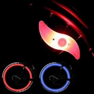 Pyörän LED-rengasvalo - Punainen