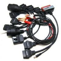 Detta AUTOCOM CDP kabelpaket levereras med en mängd olika kablar och adaptrar. Dessa kablar är lämpliga för bl.a. BENZ med 38 stift och BMW med 20 stift.