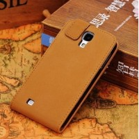 Leather flap phone cover for Samsung Galaxy S4