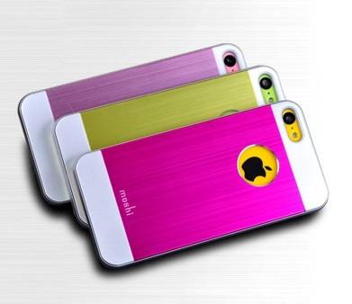 iPhone 5C skal med metall-look