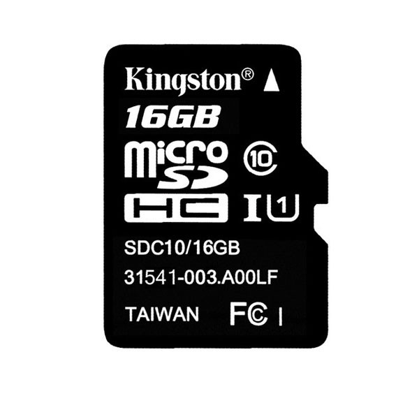 Kingston Micro SD 16GB -muistikortti Class 10