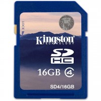 Kingston Tarjeta 16G de Memoria SD Class 4