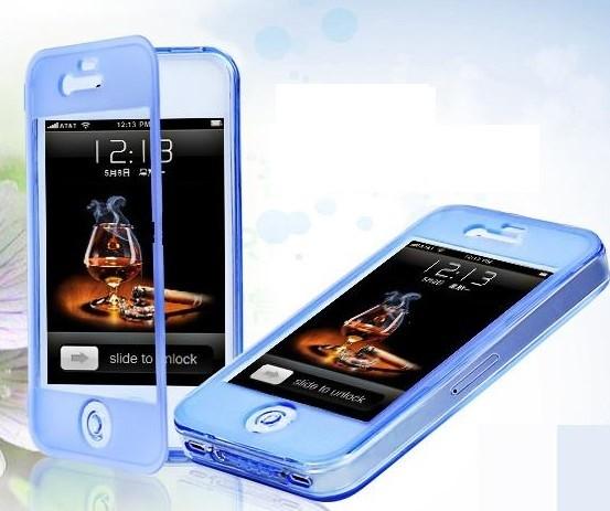 iPhone 4/4S flip silikonisuojakuori