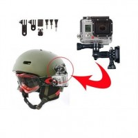 GoPro -kamerajalusta kypärään aktiiviseen liikkeeseen!