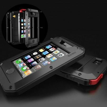 iPhone 4/5 iskunkestävä suojakuori - Musta, iPhone 5C
