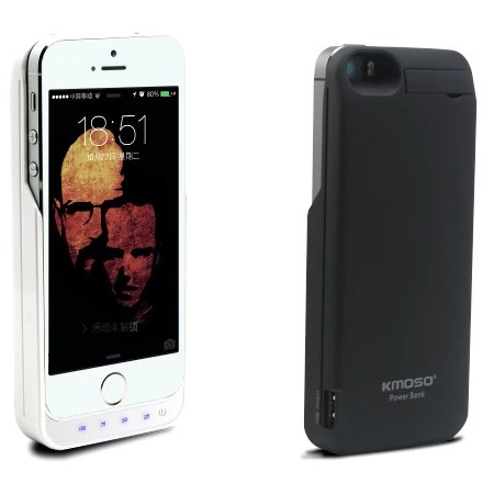 iPhone 5/5S batteriskyddskal 4000mAh