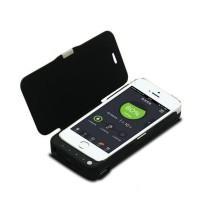 Laddningsbart flip-cover för iPhone 5 och 5S-modellen. Med detta tillbehör, behöver du inte oroa dig för att batteriet tar slut under dagen. Utmärkt att ta med till ex. stan om du inte har hunnit ladda ditt vanliga batteri.