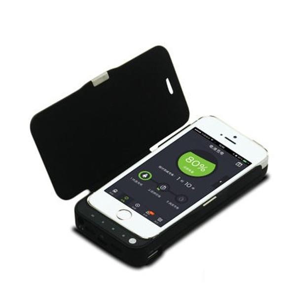 iPhone 5/5S batteri-flipcover 4000mAh