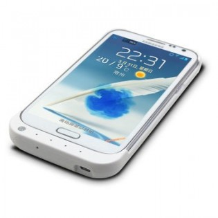 Samsung Note 2 akku-suojakuori 4800mAh - Musta