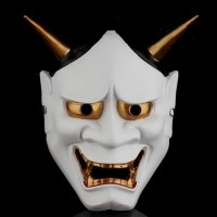 Demon med horn -mask