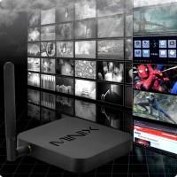 Android-TV är en liten dator som kan anslutas till en TV med en HDMI-kabel. Filmer, videor och musik finns ofta på datorn och på Internet, men med denna box kan du njuta av dessa på din TV.