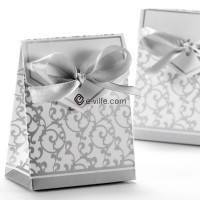 Silver wedding favor box-50pcs