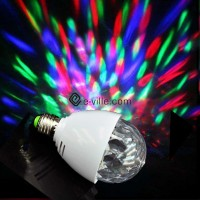 Colorful LED light bulb