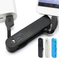 Linkkuveitsen näköinen adapteri mikä pitää sisällään latauskaapelin microUSB laitteille ja Applen uusille ja vanhoille laitteille. Mainio adapteri, joka kulkee pienen koon ansiosta helposti mukana.