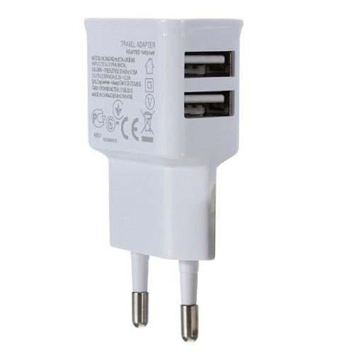 USB x 2 verkkovirta -adapteri