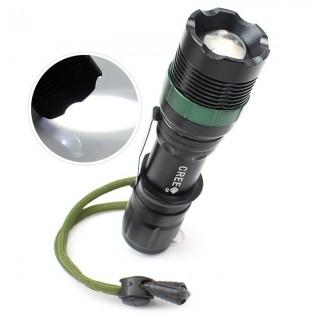 LED -taskulamppu 300lm - Musta
